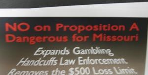Campaign literature for anti-proposition A.