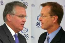 Democrat Jay Nixon (left) and his Republican opponent in the Missouri Governor's race, Kenny Hulshof.