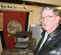 Leland Smith, a 40 year Maytag veteran, at the Jasper County Historical Society Museum
