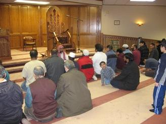 Evening prayers at the Islamic Center of Kansas in Olathe.