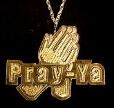 """""""Pray-Ya,"""" brass, aluminum, rhinestones, 2006."""