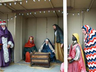"""Untitled, Self Portrait, Nativity Scene #2,"" Jaimie Warren, 2007, color photograph, 30 inches by 40 inches."