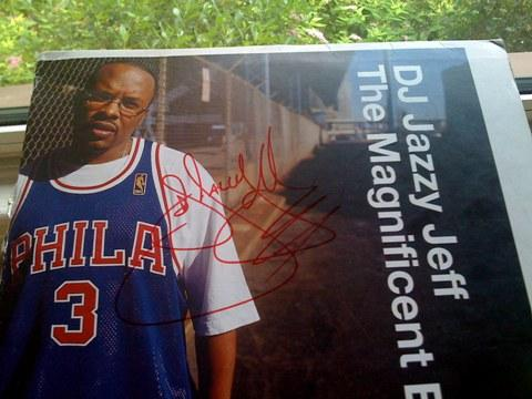 Tim Githumbi tracked down DJ Jazzy Jeff after the concert was cut short, to get an autograph on his old DJ Jazzy Jeff record.