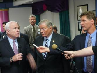 Up to Date host Steve Kraske questions Senator McCain and Senator Bond.