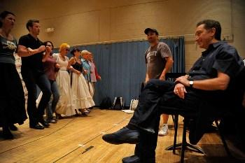 "Director Moises Kaufman at a rehearsal of ""Into the Woods"""