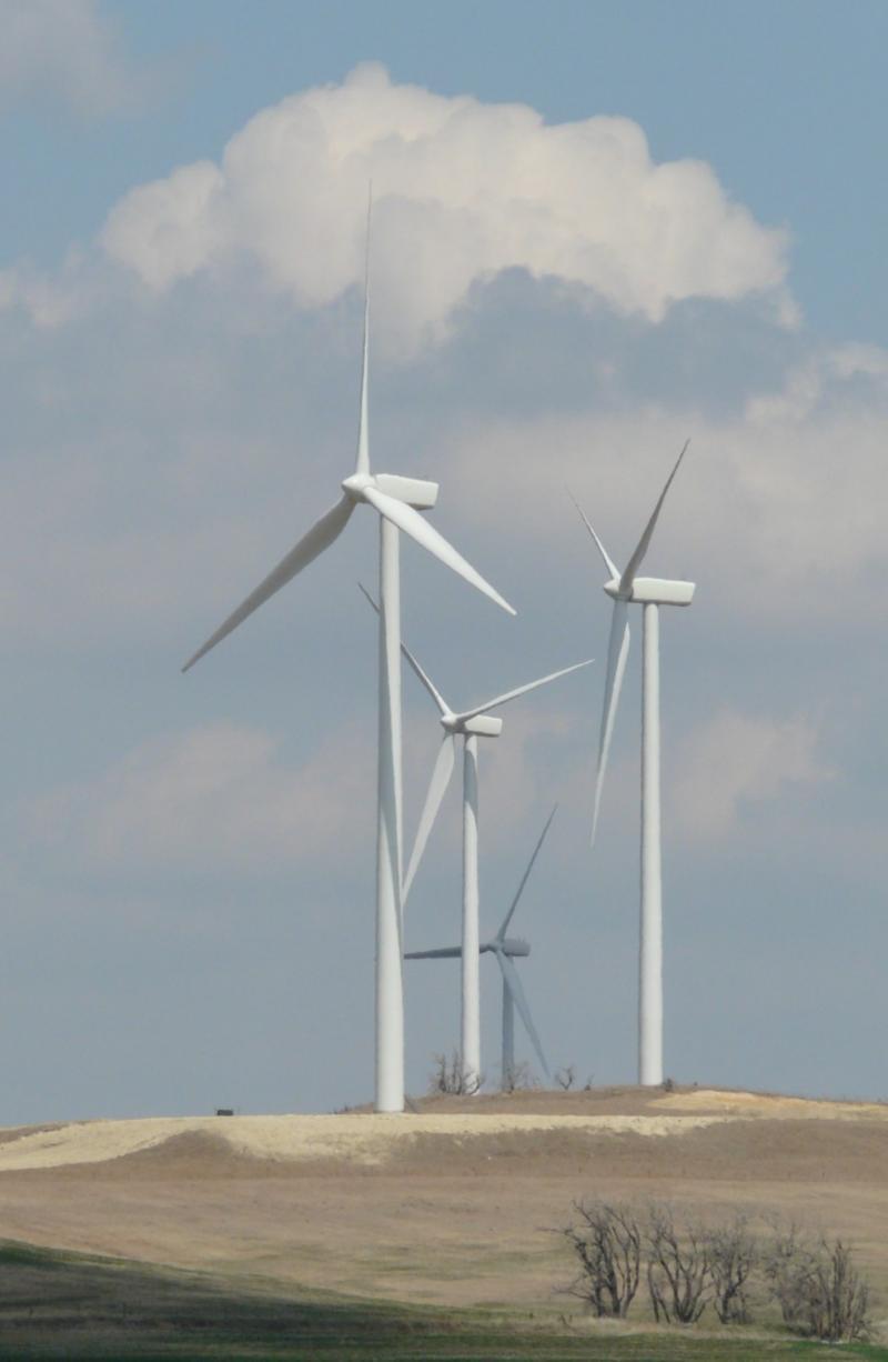 Wind turbines in Kansas.