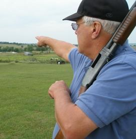 Bob Juden in field where his son honed shooting skills.
