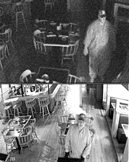The picture at the top, released this week, seems to show a man who is larger or at least stockier-built than the man fairly clearly pictured in photos released in February.  Both appear to be wearing very similar baseball caps.