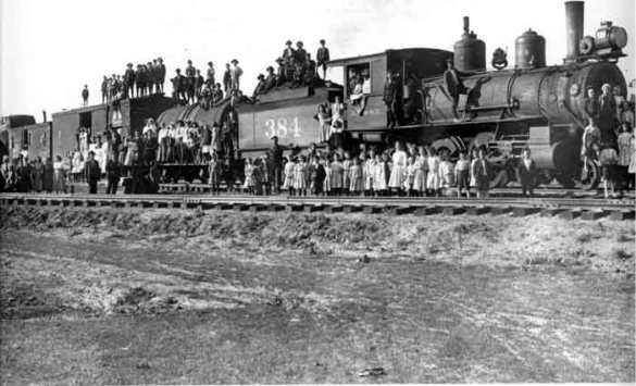 The Orphan Train in Michigan.