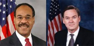 Representatives Emanuel Cleaver (l) and Dennis Moore (r)