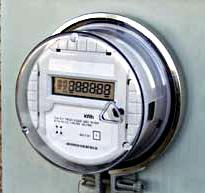 One version of a new smart grid digital home electric meter.  The meters are equipped to connect with other display and computer equipment, and offer two-way communication.