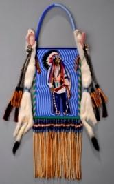 Kenneth Williams (American Indian, Seneca/Arapaho) ?Strength to Overcome? (mirror bag - image of Runs Medicine, Arapaho), 2009