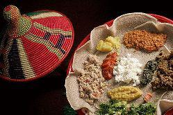 Ethiopian food is always a good bet for vegetarian choices