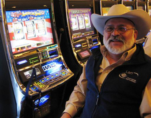 Jesse Urtiaga came up from Amarillo, Texas to check out the new casino in Dodge City.  Photo by Bill Elder.