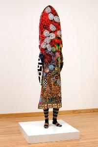 """Nick Cave, Soundsuit, 2005 Found sequined and beaded materials, hand sewn, mixed media, mannequin and armature 100 x 26 x 14"""""""