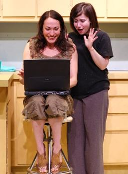 "Actors Vanessa Severo and Anna Safar in ""Green Whales."""