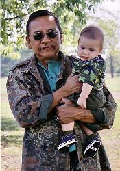 Poet Ray Young Bear and his son, Micah