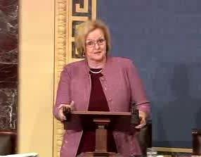 McCaskill on  Senate Floor.