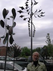 Artist Lyman Whitaker outside Leopold Gallery, Kansas City, MO.