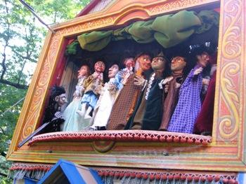 "The ghosts of his victims visit King Richard, in the Paul Mesner Puppets ""King Richard III"" puppet show."