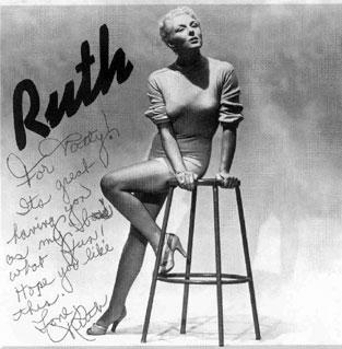The cover of one of Ruth Rhoden's albums, autographed for KCUR station manager Patty Cahill.