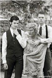 """Shea Coffman & Bryan LaFave star as the """"thrill killers"""" Leopold and Loeb in THRILL ME"""