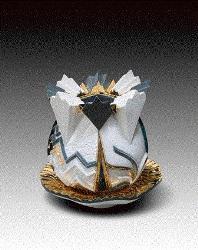 "Hungarian Herend Porcelain, Vessel FFF 2009 8.75""x 8"""