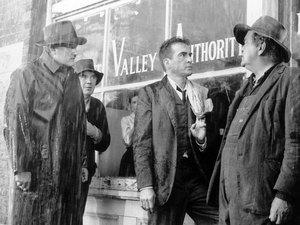 Montgomery Clift (center) plays a field administrator for the Tennessee Valley Authority in Elia Kazan's 1960 drama Wild River. Critic John Powers says the film is one of Kazan's finest.