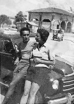 Marcella Polini and Victor Hazan in 1952, in her hometown of Cesenatico, Italy, shortly after they met.