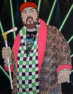 James Gobel, I'll Be Your Friend, I'll Be Your Love, I'll Be Everything You Need, 2009;  felt, yarn, acrylic and rhinestones on canvas, 72 in. x 56 in.; Collection Glenn Fuhrman, New York, Courtesy Kravets/Wehby, New York