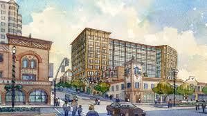 Mayor Mark Funkhouser has vetoed the council's plan to allow a high-rise office building at the north edge of the Plaza.