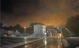 Eric Forstmann, Amenia, 2:30 a.m., 2010?11, oil on board, 23 x 37.5 in., Collection of the Kemper Museum of Contemporary Art