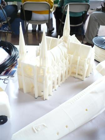 Inventor Michael Curry used a home 3-D printer to create this miniature gothic cathedral.