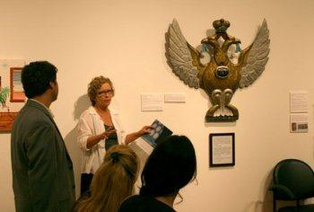 Artist Gerry Trilling talks about her work at the Epsten Gallery.