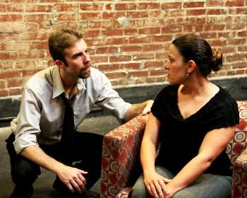 "Chris Roady (as Ben) and Crystal Gould (as Abby) in ""The Mercy Seat."""