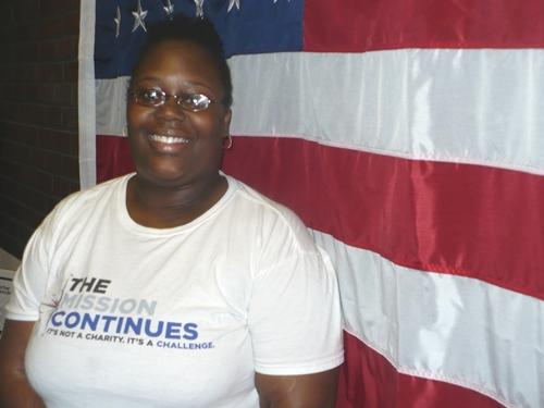 Tiffany Birmingham, president of Veteran?s Success Center at Penn Valley, is a native of the Kansas City, MO area. She was inspired to join the military after seeing coverage of the terrorist attacks of September 11. Photo by Kayla Regan/KCUR.