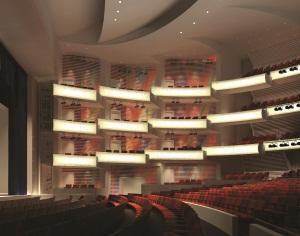 Muriel Kauffman Theatre at the Kauffman Center for the Performing Arts.