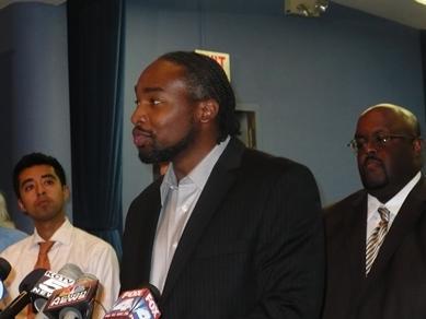Kansas City, Missouri school board members Crispin Rea, Airick Leonard West and Joseph Jackson.