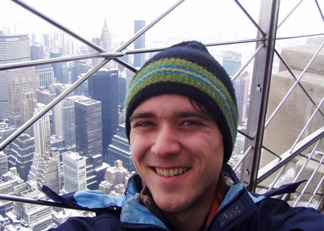 Zachary Weaver at the Empire State Building, NYC.