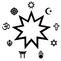 The nine-pointed star of Baha'i.