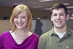 Holly Barber and Eric Fasse both went through ConAgra's Information Technology Intern program and landed jobs there after graduation.