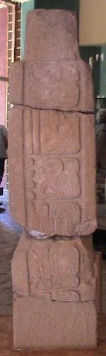 Monument 101 from Toniná, Chiapas (Mexico) has one of the latest recorded Long Count dates, written as 10.4.0.0.0 (note the bar-and-dot numerals), referring to a day in the year AD 909.