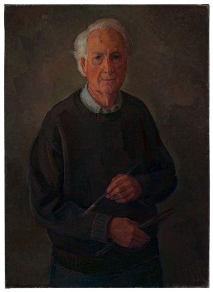 Self Portrait, 2010; oil on canvas, 32 x 23 inches.
