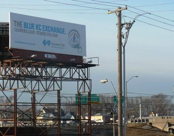 "Billboards advertising a ""KC Exchange"" have been popping up around downtown."