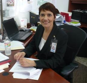 Hilda Fuentes, Executive Director of Samuel Rodgers Health Center, in her office at the old facility.
