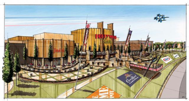 An artist's rendering of Hollywood Casino in Kansas City, Kansas.  The casino plan to open Friday, February 3.