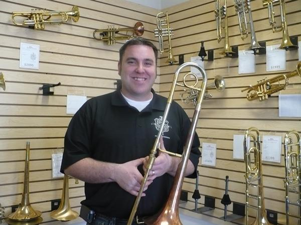 Mike Corrigan in his retail shop.