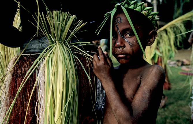 Child along the Sepik River