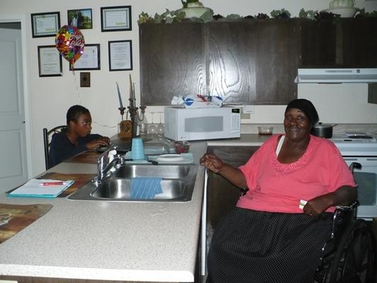 Linda Benson and her grandson Shawn.
