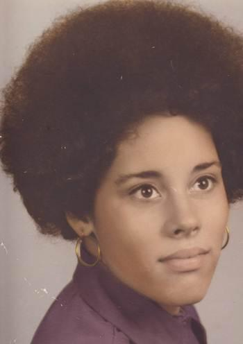 KCUR's Susan Wilson in high school, sporting her Soul Train-inspired hairdo.
